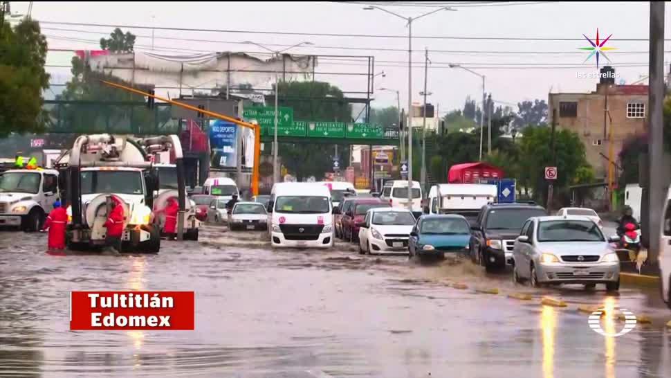 noticias, televisa, Lluvia fuerte, inundaciones, Valle de México, lluvias