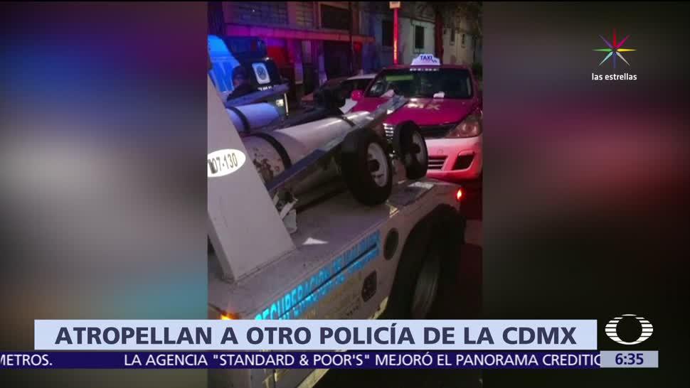 taxi atropella, policía de la CDMX, colonia Morelos, cien metros