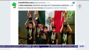 Niños mexicanos, concurso mundial de Cálculo, Cálculo Mental, Malasia, cinco años de edad