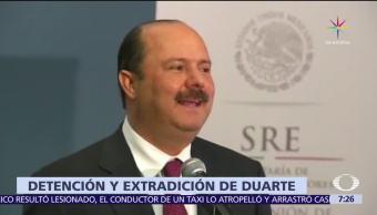 gobernador de Chihuahua, Javier Corral, autoridades, Estados Unidos, César Duarte
