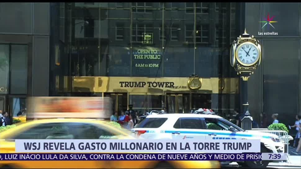 Wall Street Journal, gobierno de EU, 130 mil dólares Torre Trump