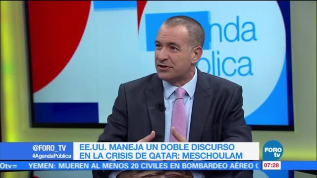 internacionalista Mauricio Meschoulam, Estados Unidos, discurso, crisis de Catar