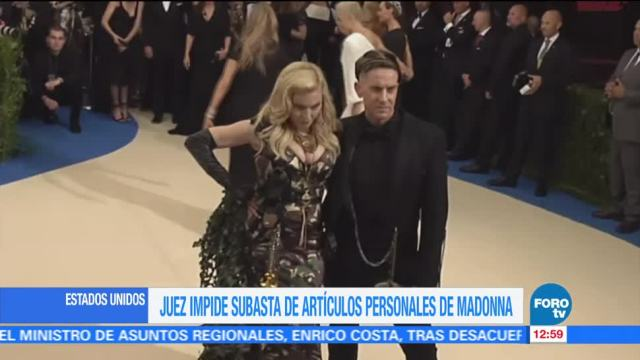 juzgado de Manhattan, Estados Unidos, objetos personales, cantante Madonna, reina del pop