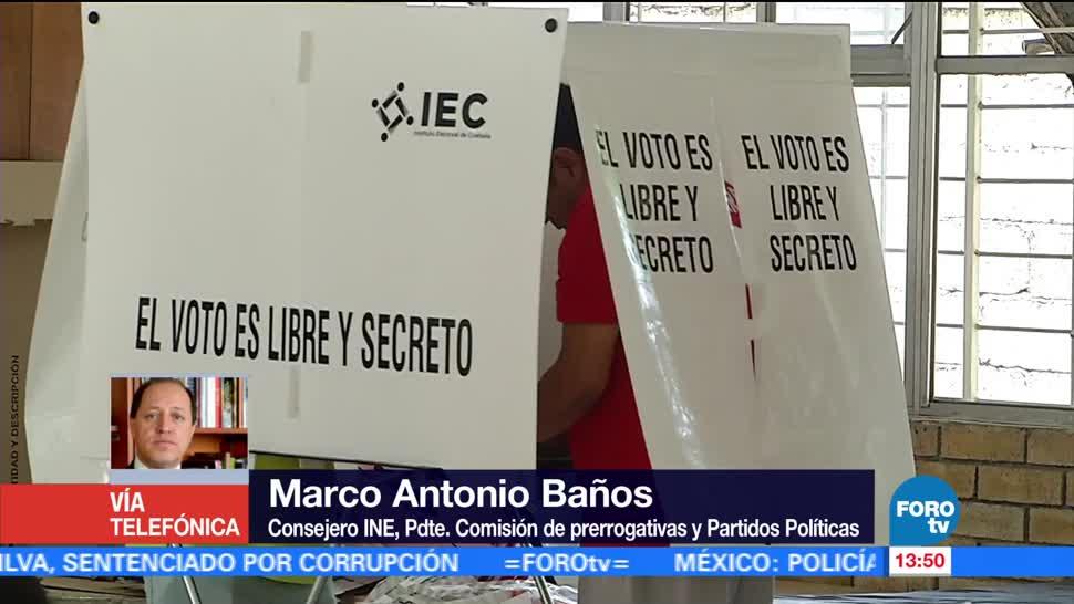 noticias, forotv, Topes, gastos de campaña, entrevista, Marco Antonio Baños