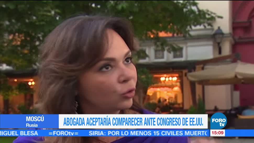 noticias, televisa, Abogada rusa, declarar, Congreso de EU, Natalia Veselnítskaya