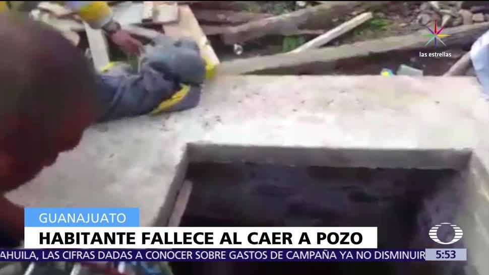 Muere, trabajador, caer pozo, Guanajuato