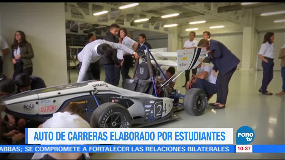 Auto de carreras, Eduardo Saint Martin, estudiantes, fabricado por estudiantes