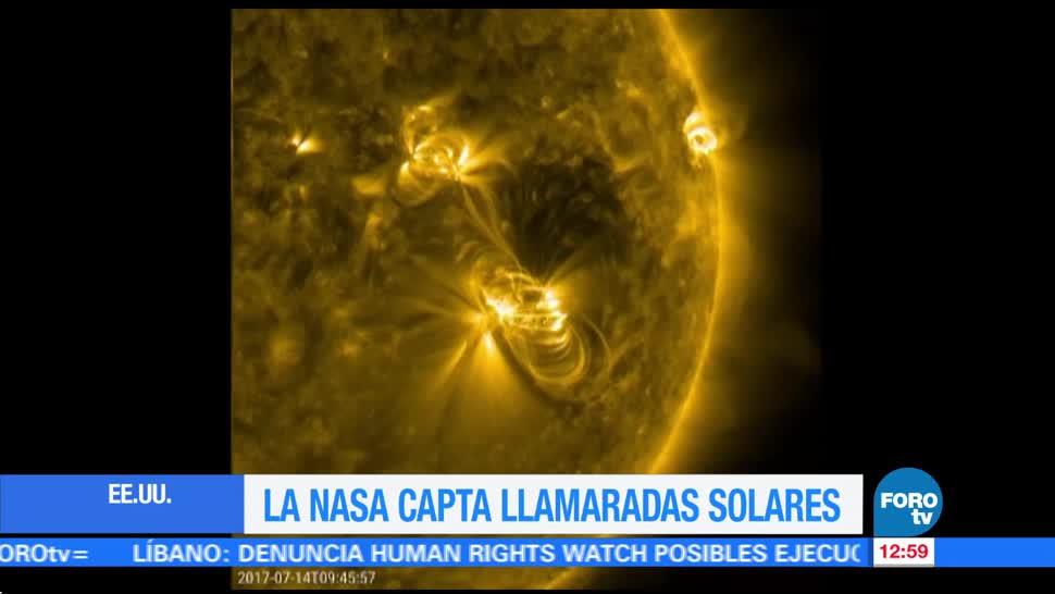 NASA, imágenes de llamaradas solares, fenómeno, 14 de julio