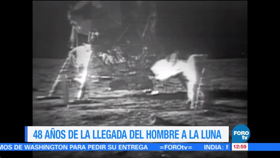 48 años, llegada del hombre a la Luna, histórico acontecimiento, julio de 1969, misión espacial, Apolo 11