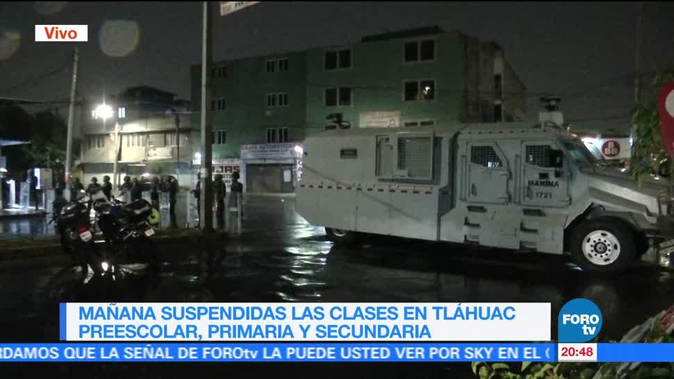 noticias, forotv, Suspenden clases, Tláhuac, viernes, clases