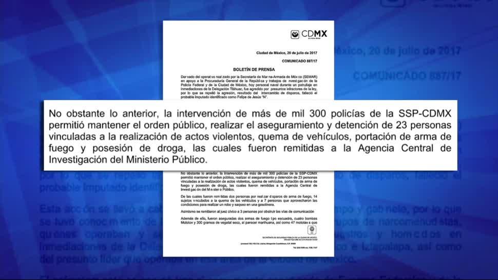 noticias, forotv, Detienen, 23 personas, vinculadas, enfrentamiento en Tláhuac