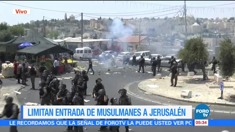 noticias, forotv, enfrentamientos, palestinos, fuerzas de seguridad. Jerusalén