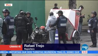 noticia, forotv, Policías capitalinos, realizan operativo, calles de Tláhuac, Policías