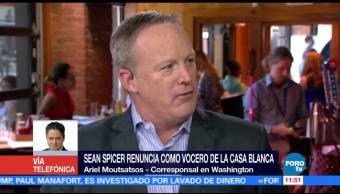 noticias, forotv, Sorprende, renuncia, Sean Spicer, vocero de la Casa Blanca
