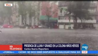 Registra, Lluvia, Granizo, Delegacion Benito Juarez