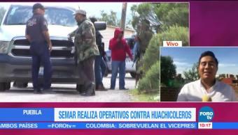 Enfrentamiento, Marinos, Huachicoleros, Puebla