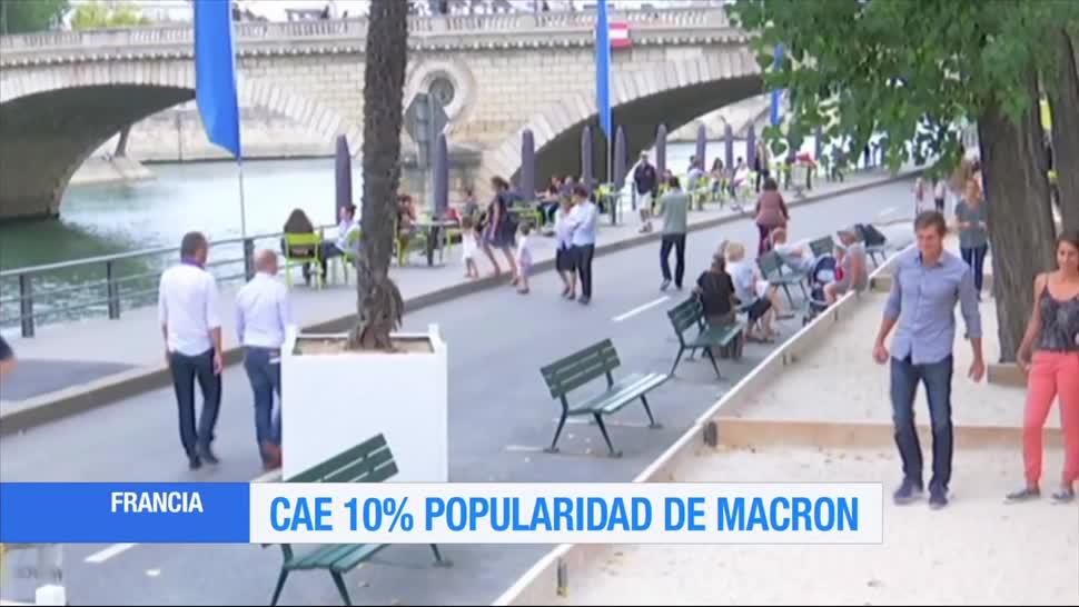 Cae La Popularidad, Emmanuel Macron, Presidente De Francia