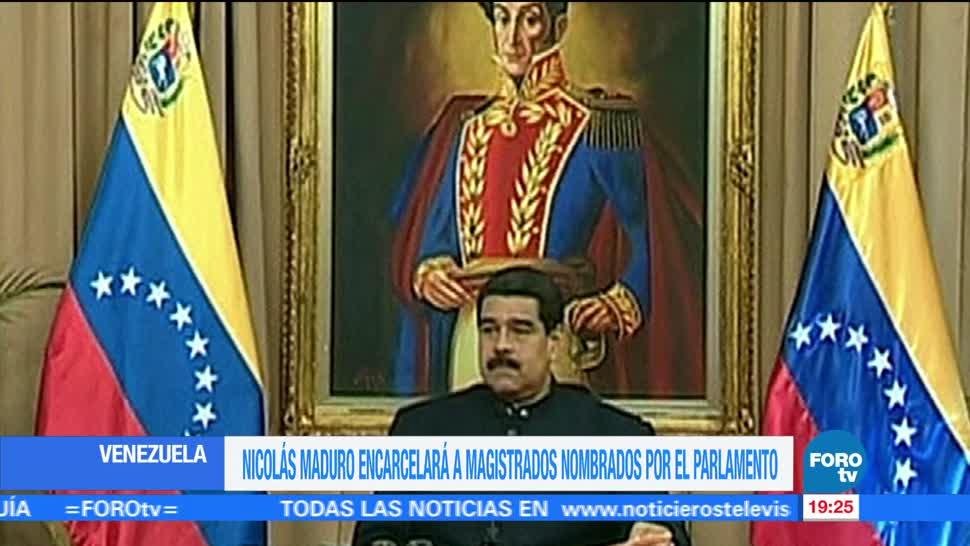 Nicolas Maduro Encarcelara Magistrados Nombrados Parlamento Cogelaran Cuentas Bancarias