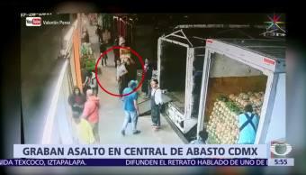Cámaras de seguridad, hombres armados, bodega, Central de Abasto, Iztapalapa