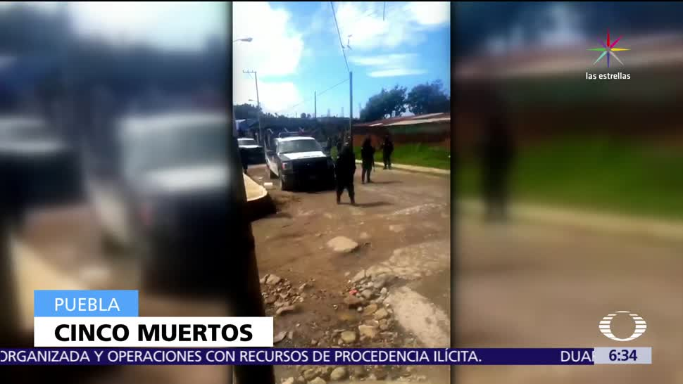 Mueren cuatro civiles, policía, enfrentamiento, Puebla