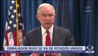 Jeff Sessions, postura de Trump, Rusia, embajador Kislyak