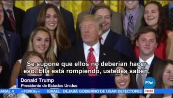 Trump Ordena Callar Reportera Casa Blanca Presidente Estados Unidos Donald Trump