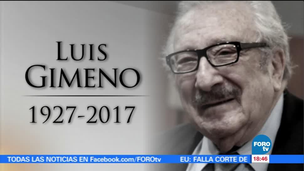 Muere Cdmx Actor Luis Gimeno Ciudad Mexico