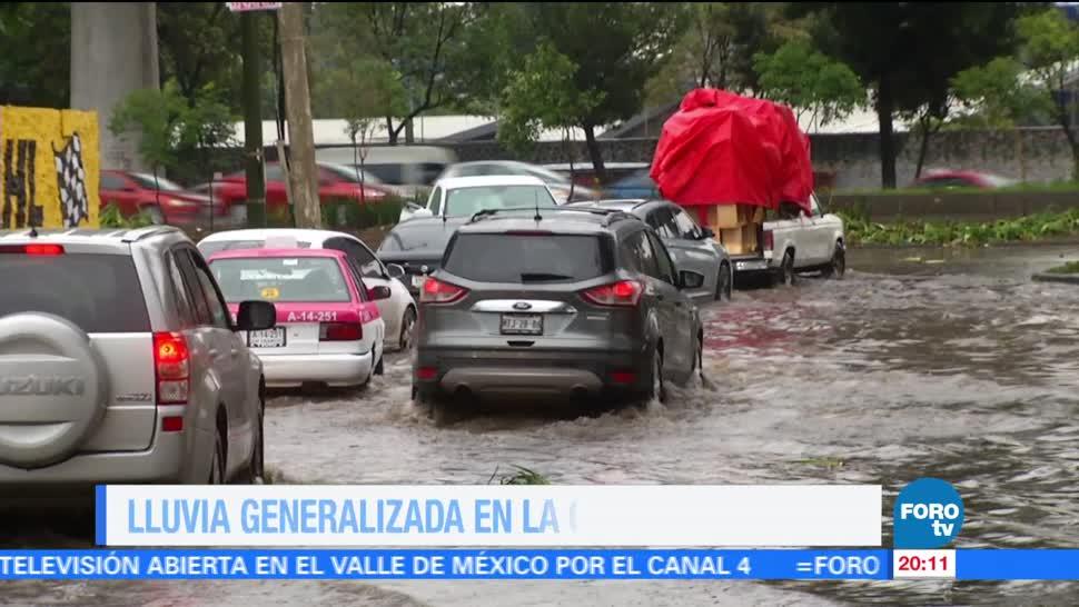 En Una Hora Televisa News Lluvias Encharcamientos Caida Arbol,