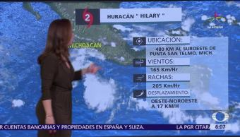 Hilary, fuertes vientos, Nayarit, Guerrero
