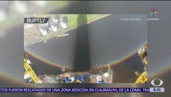 Captan, arcoíris circular, San Petersburgo, Constructores
