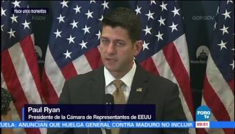 Paul Ryan, debatirán, Trump, Congreso
