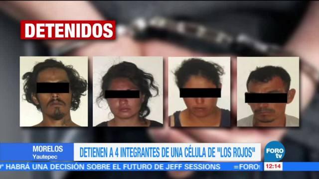 Detienen integrantes Célula delictiva Los Rojos