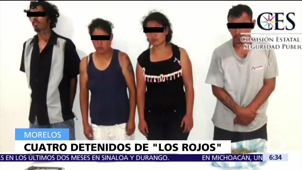 Detienen, presuntos, integrantes, Los Rojos