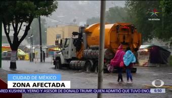 Lluvia intensa, inundaciones, Reclusorio Norte, CDMX
