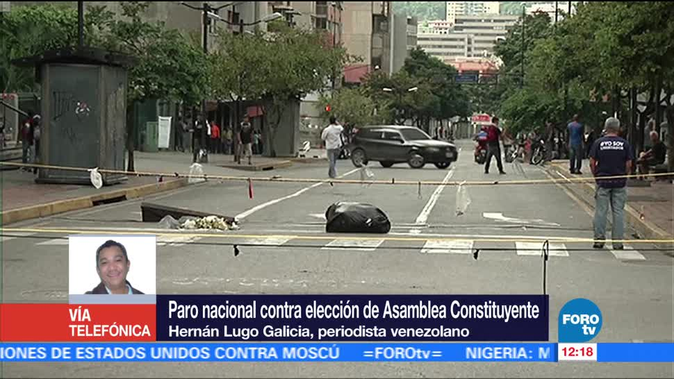 Calles, Venezuela, amanecen, paro