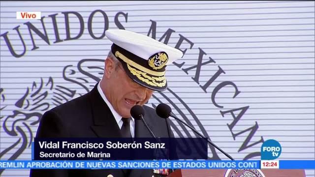 Secretario, Marina, reconoce, militares