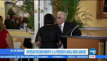 Galardonan, Karla Iberia, trabajo, Noticieros Televisa