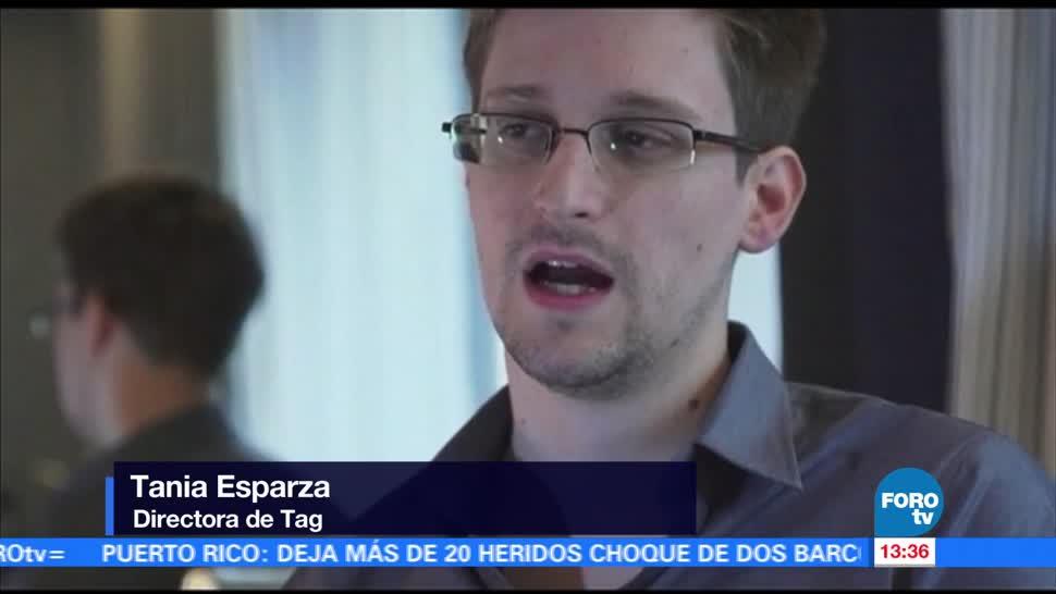 Televisa News Exagente Edward Snowden TagCDMX
