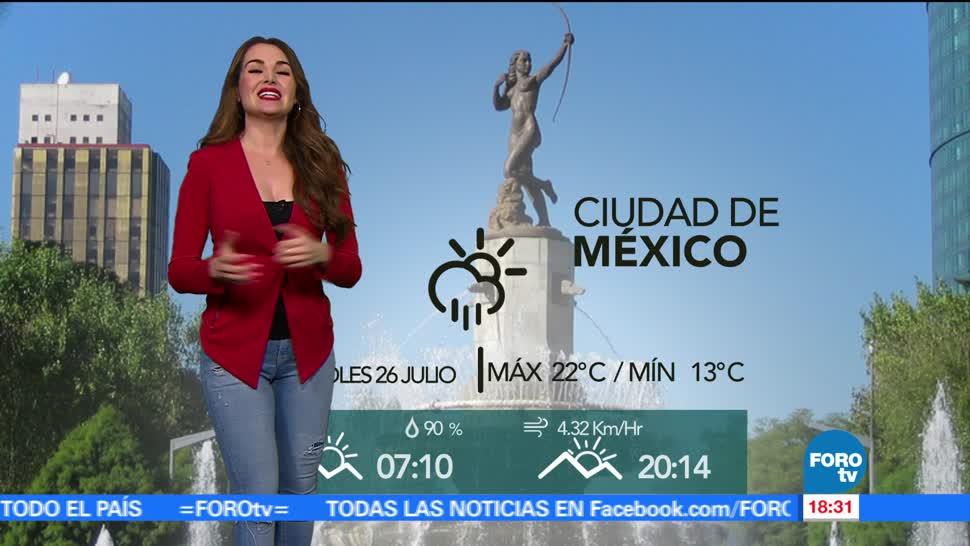 Clima Temeperaturas Mayte Carranco Jueves Lluvias