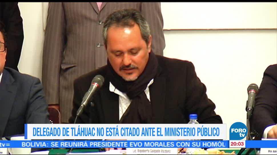 Delegado Tláhuac Citado MP Rigoberto Salgado