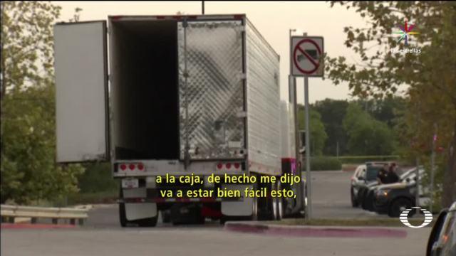 Mexicanos Encerrados Trailer Texas Migrantes EU