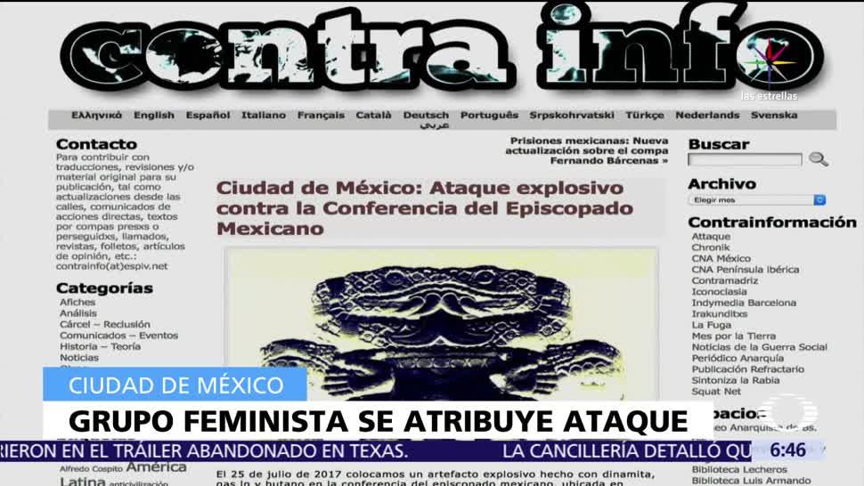 Grupo anarquista, adjudica, explosión, Episcopado Mexicano