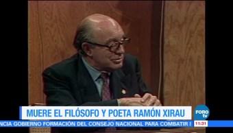 Comunidad Intelectual Lamenta Ramón Xirau