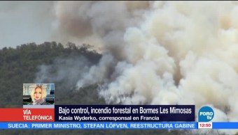 Bajo control, incendio forestal, Bormes, Mimosas
