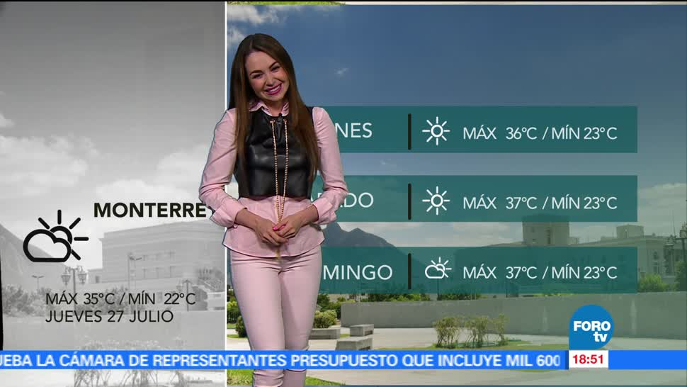 Televisa News Clima Mayte Carranco Julio