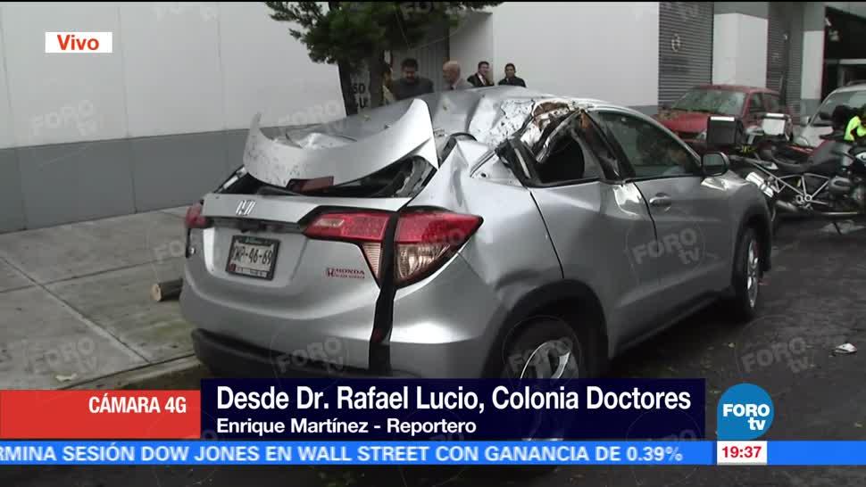 Cae Árbol Lluvia Doctores CDMX