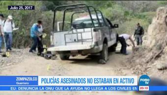 Policias Asesinados Asalto Prospera Morelos Ahuacuotzingo