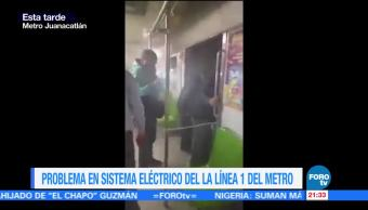 Falla eléctrica provoca caos Metro CDMX