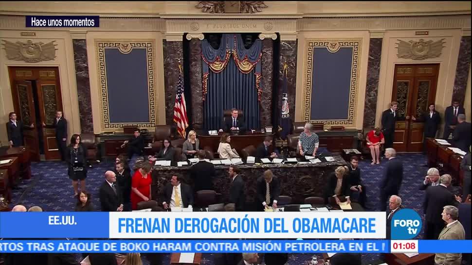 Senado EU frena derogación del Obamacare
