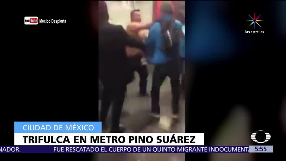 Noticieros Televisa Usuarios Metro Pino Suárez CDMX